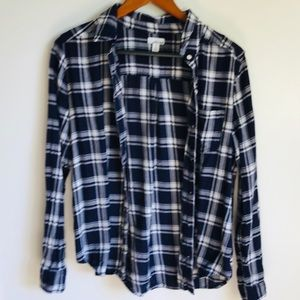 Abound flannel plaid shirt blue